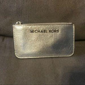 Michael Kors- Jet Set Metallic Travel Key Pouch